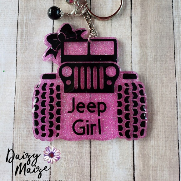 Custom Jeep Girl Acrylic Keychain